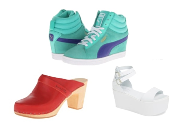 The Summer S Hottest Shoes Metallic Platforms And More