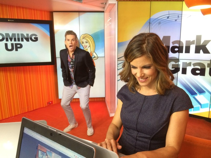 Natalie Morales and Mark McGrath