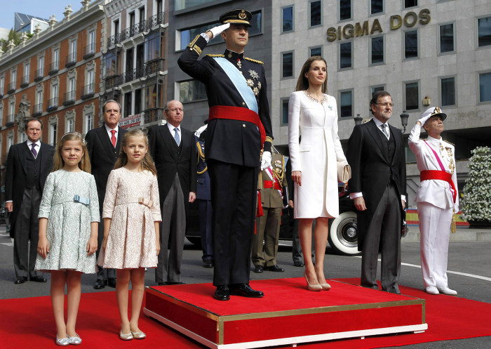 Image: Queen Letizia and King Felipe VI at the royal coronation