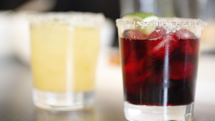 Margaritas with jalapeno sea salt