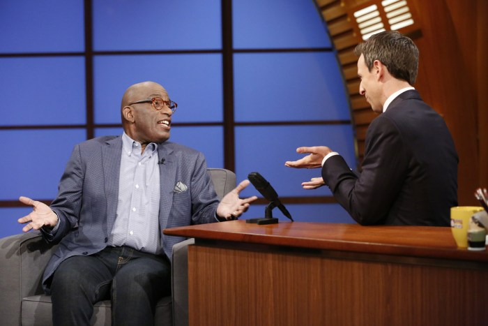 "Al Roker stops by ""Late Night With Seth Meyers"" on June 19, 2014"