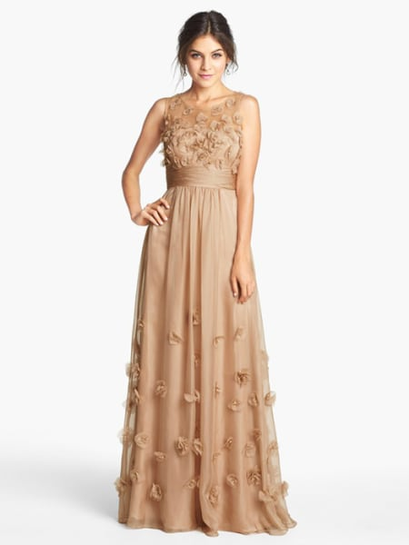 Wedding Dress Color Trends : D colored bridal wedding champagne today inline large