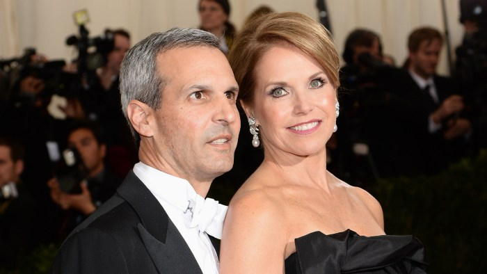 John Molner and Katie Couric on May 5, 2014 in New York City.