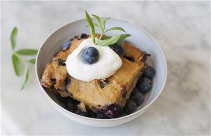 Image: blueberry sorghum spoon bread