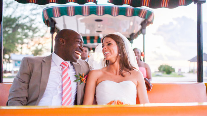 Yemi O-Ettu and Jan Falmer are pictured on their wedding day, Sept. 19, 2013.
