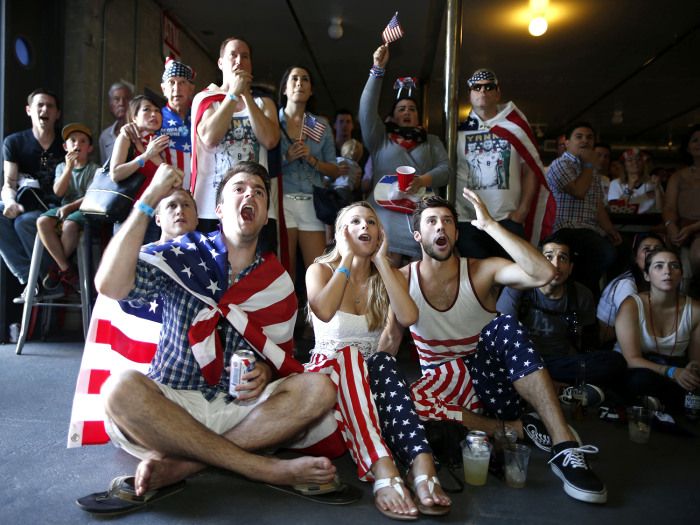 While you might not be able to gather in front of a huge video board decked out in USA gear for Thursday's U.S.-Germany World Cup showdown, there are still ways to catch the game if you're stuck at work.