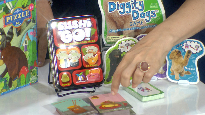 Sushi Go! (Gamewright, $12.95) and Diggity Dogs (Educational Insights, $14.95) are perfect for strategy-loving gamers.