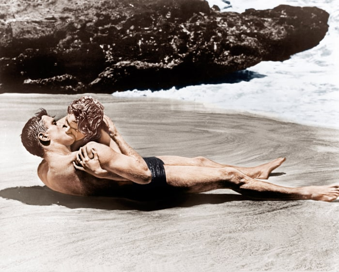 "Burt Lancaster and Deborah Kerr in 1953's ""From Here to Eternity."""