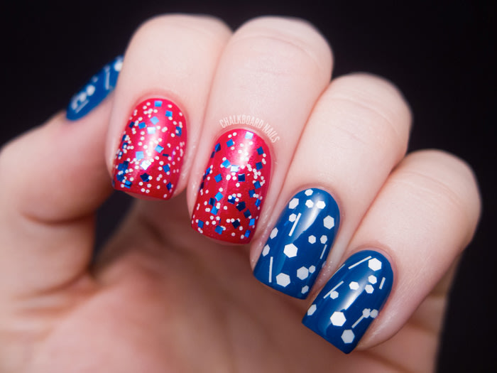 Red white and awesome 4th of july nail art designs today glittery nail art today prinsesfo Images