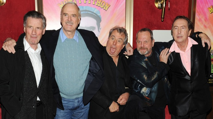 Actors Michael Palin, John Cleese, Terry Jones, Terry Gilliam and Eric Idle attend the Monty Python 40th Anniversary.