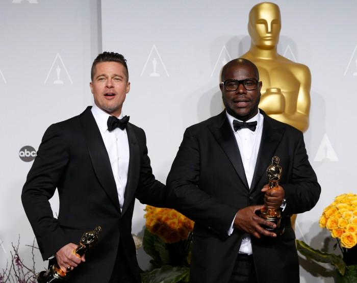 Image: Brad Pitt and Steve McQueen