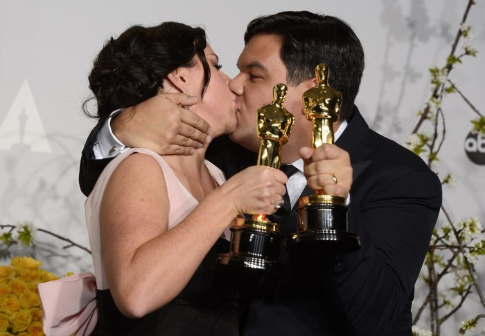 Image: Kristen Anderson-Lopez and Robert Lopez