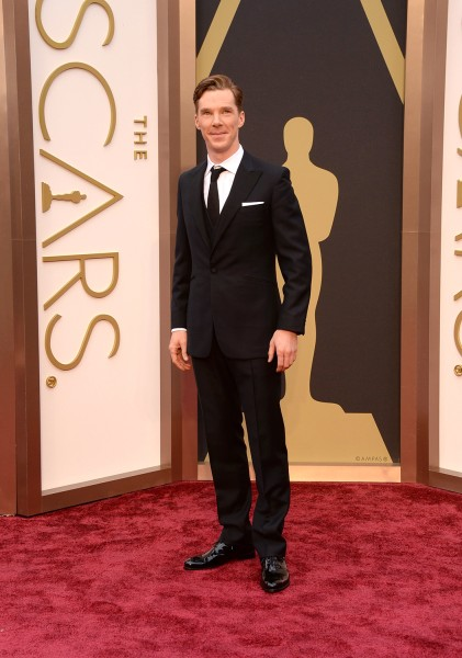 HOLLYWOOD, CA - MARCH 02:  Actor Benedict Cumberbatch attends the Oscars held at Hollywood & Highland Center on March 2, 2014 in Hollywood, California...