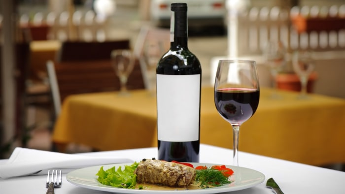 Pin Up Drinking Wine