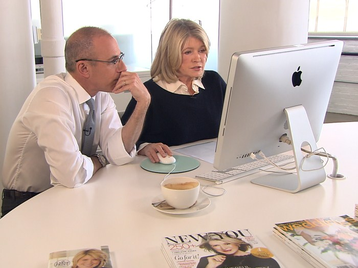 Matt Lauer and Martha Stewart