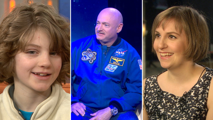 "Phoenix Scoles-Coburn remembers being buried in snow, Mark Kelly teams up with his twin brother to help NASA and Lena Dunham's set to host ""SNL."""