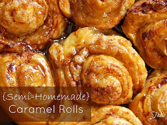 Semi-Homemade Caramel Rolls