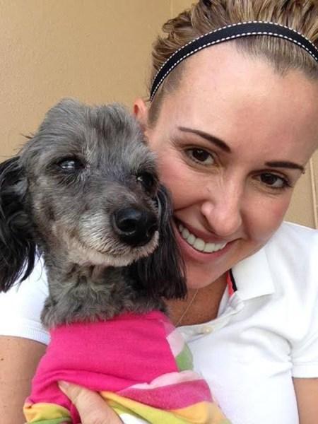 Jaime Bunny McKnight with Molly the dog