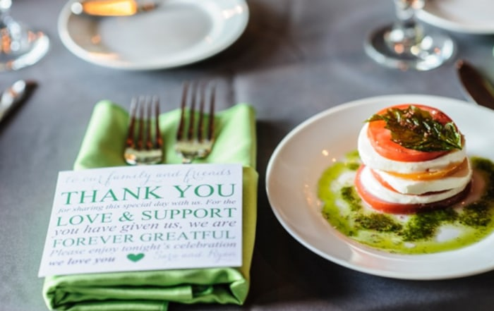 Each guest received a thank you note from the bride and groom.