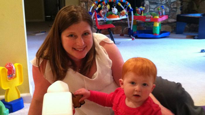 Erin Shetler with her daughter