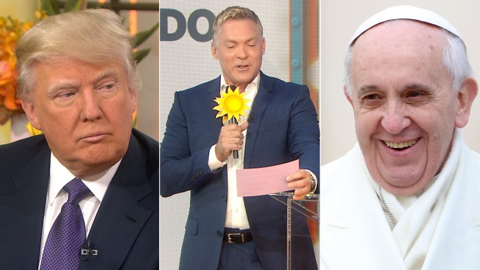 Donald Trump has advice for President Obama, Sam Champion quizzes the anchors on fun weather facts and TODAY celebrates the Pope's first year.
