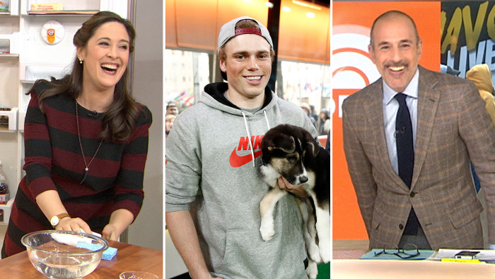 Elizabeth Mayhew offers spring cleaning tips, Gus Kenworthy brings in his new pups and Matt demonstrates his favorite apps.