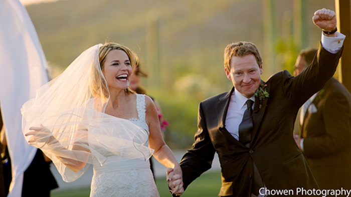 Savannah Guthrie and Mike Feldman wed over the weekend.