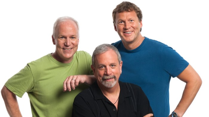 IMAGE: Rifftrax members Bill Corbett, Michael J. Nelson and Kevin Murphy