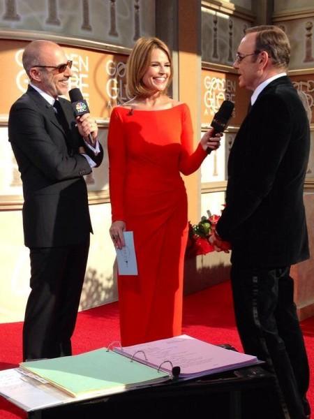 Matt Lauer's beard made an appearance on the Golden Globes red carpet.