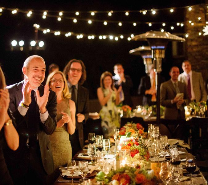 Matt Lauer at Savannah Guthrie's wedding.