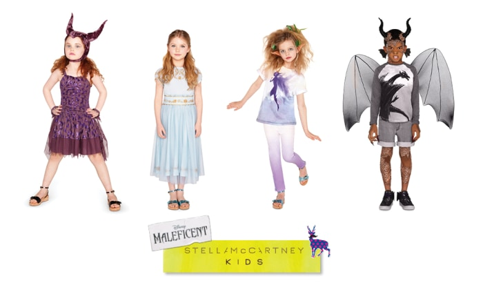 "Several styles from the new ""Maleficent"" by Stella McCartney Kids capsule collection."