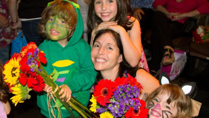 Stefanie Wilder-Taylor with her three children.