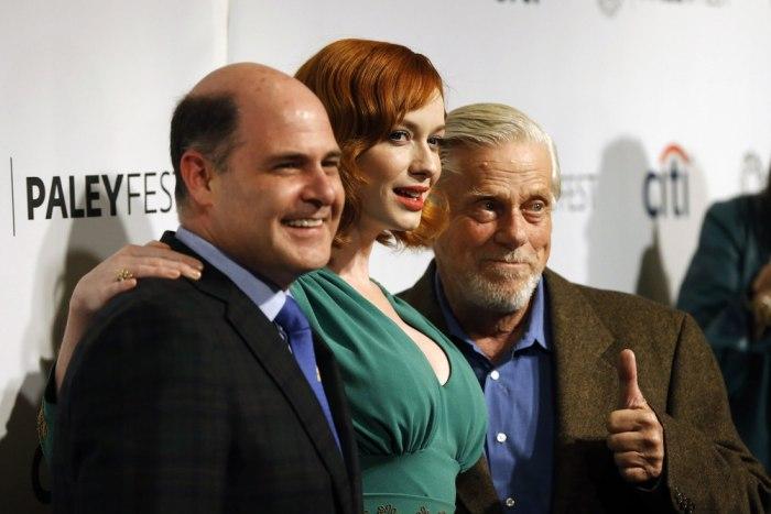 Image: Christina Hendricks, Matthew Weiner, Robert Morse