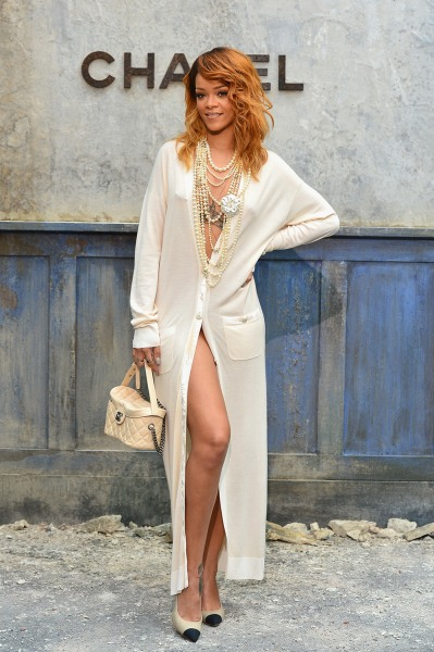 PARIS, FRANCE - JULY 02:  Rihanna attends the Chanel show as part of Paris Fashion Week Haute-Couture Fall/Winter 2013-2014 at Grand Palais on July 2,...