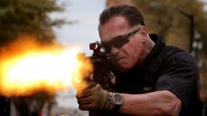 """Arnold Schwarzenegger in """"Sabotage."""""""
