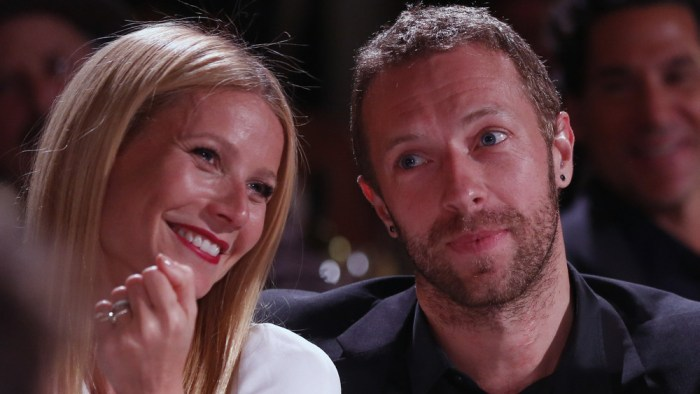 Gwyneth Paltrow, left, and Chris Martin are seen at the 3rd Annual Sean Penn & Friends HELP HAITI HOME Gala on Saturday, Jan. 11, 2014 at the Montage ...