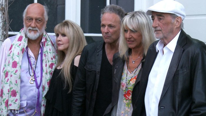 Fleetwood Mac (from left): Mick Fleetwood, Stevie Nicks, Lindsay Buckingham, Christine McVie, John McVie.