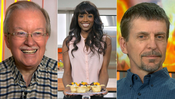 "Elwood Edwards reveals the voice behind ""you've got mail,"" Lorraine Pascale makes a 3-course meal in 30 minutes, Curtis Reissig recounts a narrow escape from fiery death."