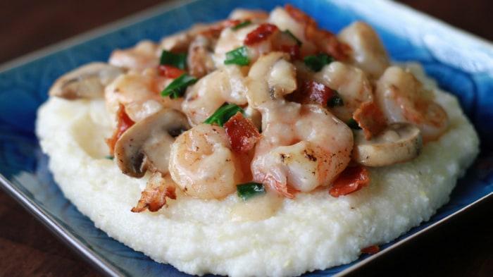 SouthernBite.com's Stacey Kelly serves up tasty shrimp and grits.