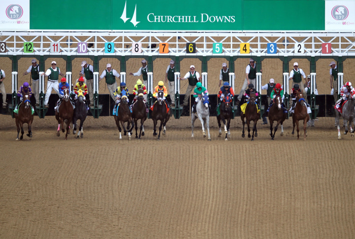 Starting position, which is determined by a random draw, can be crucial when it comes to winning the Kentucky Derby.