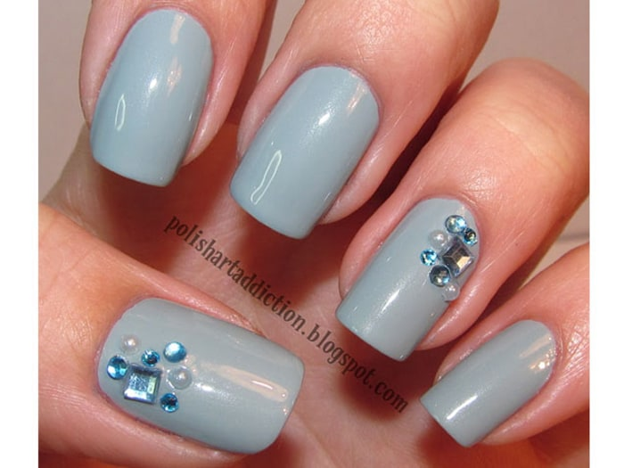 Something Blue Nail Art