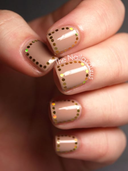 Holographic Glequins Nail Art