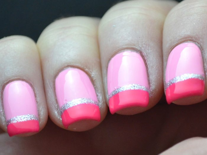 Mixed Pink Nails