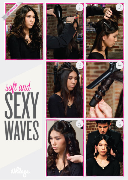 Soft and Sexy Waves: DIY Hairstyles: Easy Step-by-Step Hair Tutorials