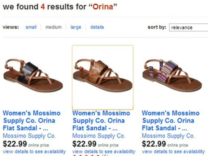 Target Pulls Orina Urine Sandals Sign
