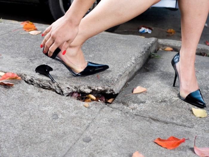 walking in stiletto heels