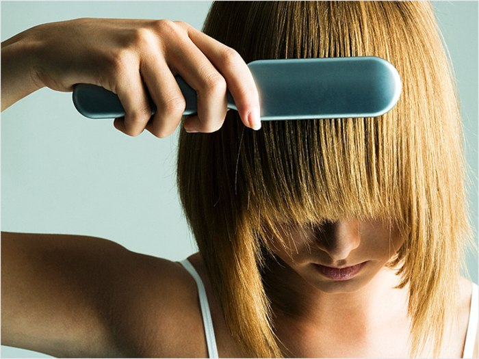 Get Straight Hair at Home