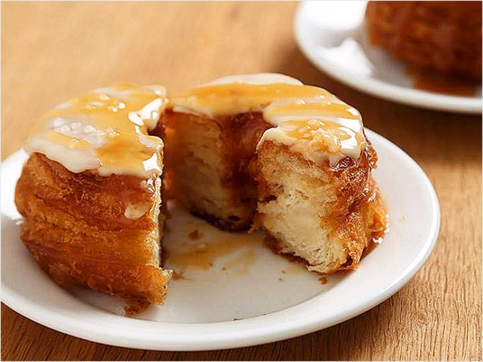 Pillsbury salted caramel crescent doughnut