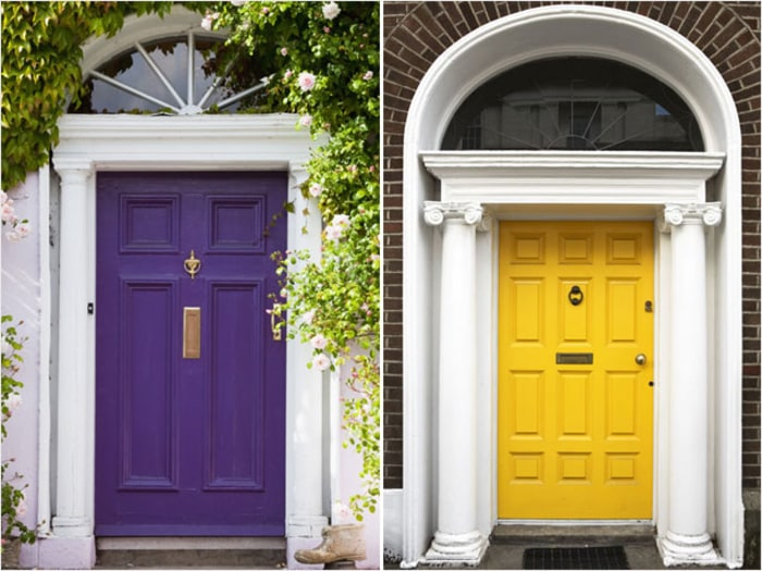 Colorful Front Doors Purple and Yellow Doors