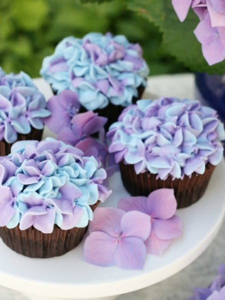 Easter Cupcakes Hydrangea Cupcakes